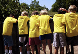 boys in yellow shirts poster