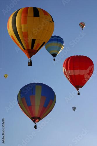 montgolfières multicolores - 52630