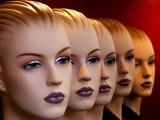 visages mannequins poster