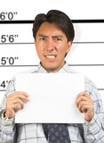 angry business male mugshot poster