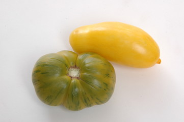 green and yellow tomatoes