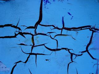 craquelure bleue