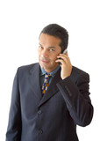 business man on the phone - je poster