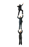 business people climbing up - growth poster