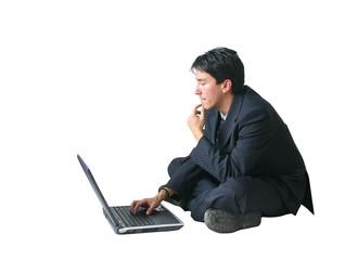 business man - laptop ar