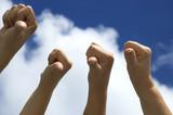 hands showing displeasure poster