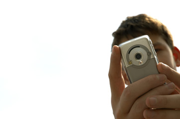 teen try to shoot you with mobile-phone