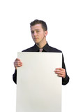 serious business man - space for writing 6 poster