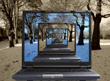 infinity laptop poster