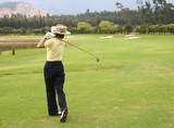 female golfer poster