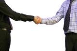 business handshake - full view poster