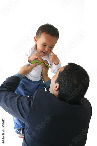 business man and son
