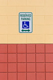 reserved handicap parking poster
