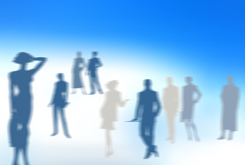 conceptual business image: dream team