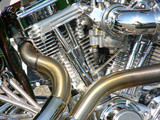 motorcycle engine close-up poster
