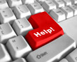 Leinwanddruck Bild - special keyboard - help