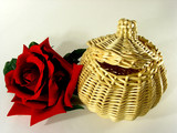 basket and rose. poster