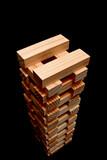 wooden block building poster