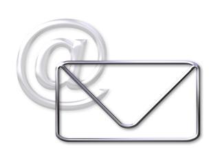 envelope and mail  (@) symbol