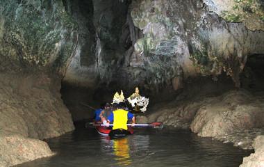 caving with canoe