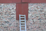 barn door with ladder poster