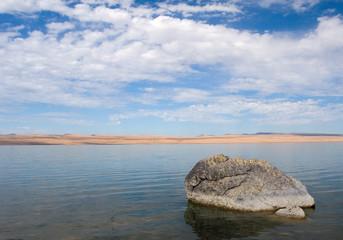 rock, abert lake