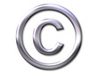 copyright – silver bevel - symbol