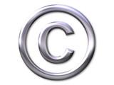 copyright – silver bevel - symbol - 67094