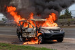 fire burning car - 67433