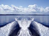 boat wake poster