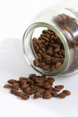 coffee beans & jar