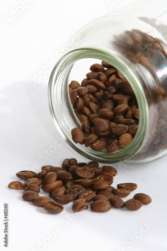 coffee beans & jar