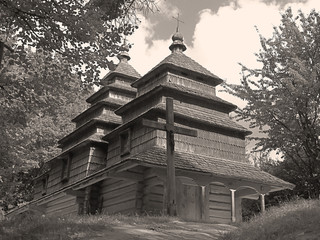 an ancient wooden church