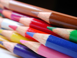 colourful pencil crayons poster