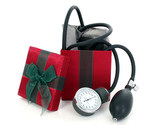 blood pressure cuff in a gift box poster
