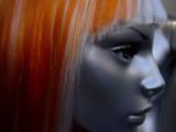 mannequin à perruque rousse poster