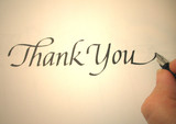 callligraphy thank you poster
