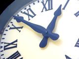 clock close-up poster