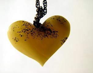 valentine amber heart