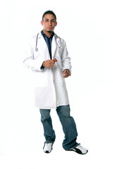 full view of medical technician