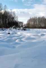 lithuania field in winter