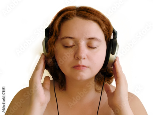 poster of girl with headphones