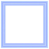 blue picture frame poster
