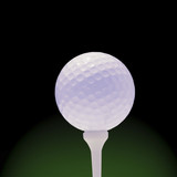 golfball on green and black poster