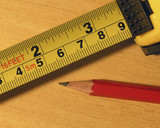 tape measure and pencil poster