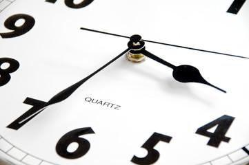 modern clock, 3:35 pm/am