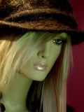 la blonde au chapeau poster