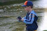 boy fishing poster