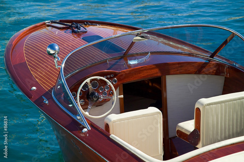 Canvas Water Motorsp. wooden luxury tender at monaco
