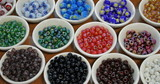 colored beads poster